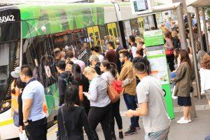 Melbourne tram passenger - RailGallery
