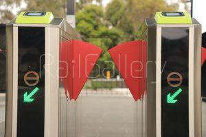 Melbourne trains ticket barrier - RailGallery